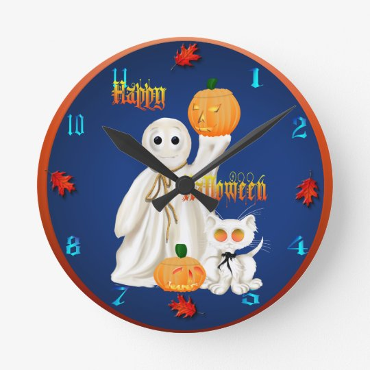Ghost and Ghosty Kitty wallclock