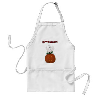 Ghost and Pumpkin Halloween Apron