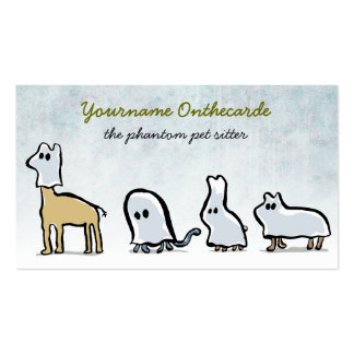 ghost animals (pet sitting) business card