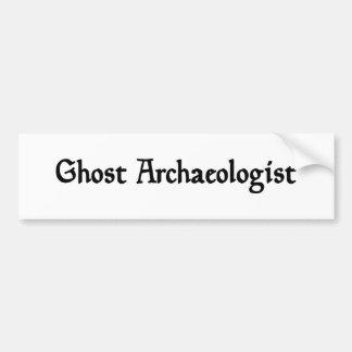 Ghost Archaeologist Bumper Sticker Car Bumper Sticker