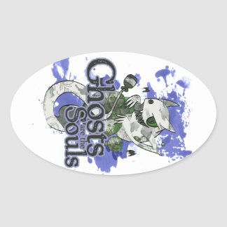 Ghost are the Souls Oval Sticker
