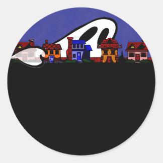 Ghost Avenue Halloween Classic Round Sticker