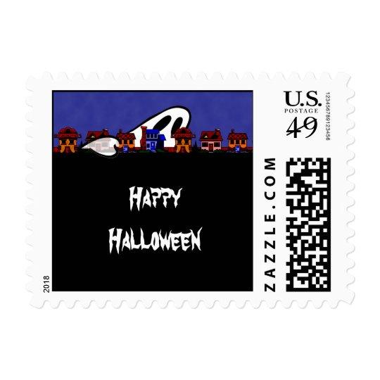 Ghost Avenue Halloween Postage