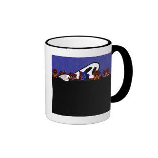 Ghost Avenue Halloween Ringer Coffee Mug