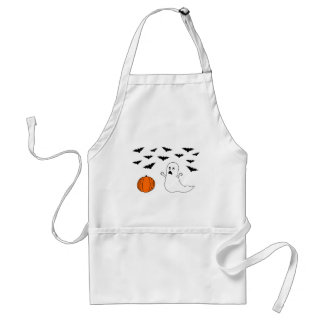 Ghost & Bats Halloween Adult Apron