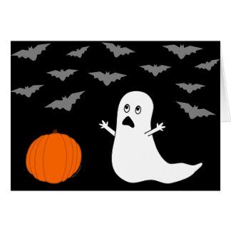 Ghost & Bats Halloween (Dark Version) Card