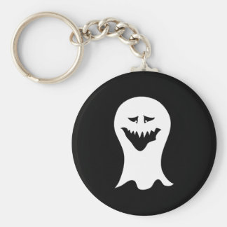 Ghost. Black and White. Keychain