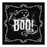 """Ghost Boo 5.25"""" Square Invitation Card"""