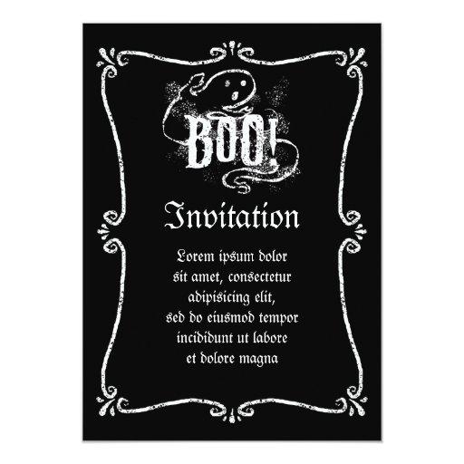 "Ghost Boo 5"" X 7"" Invitation Card"