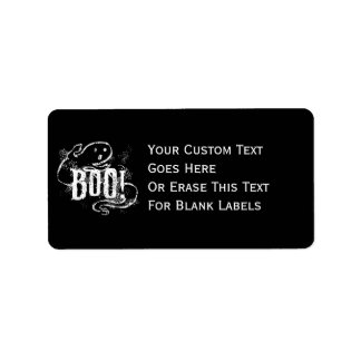 Ghost Boo Address Label