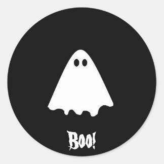 Ghost, Boo! Classic Round Sticker