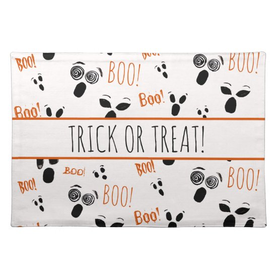 Ghost Boo Spooky Simple Modern Farmhouse Halloween Cloth Placemat