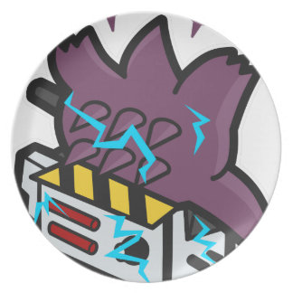 Ghost Busted Melamine Plate