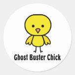 Ghost Buster Chick Round Sticker