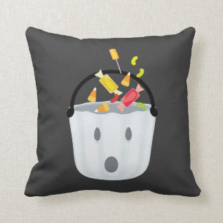 Ghost candy pail throw pillow