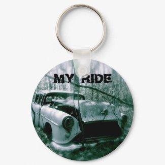 Ghost car keychain keychain