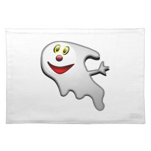 Ghost cartoon placemat
