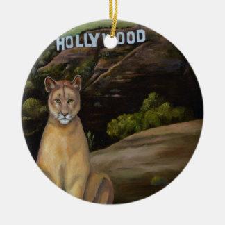 Ghost Cat Ceramic Ornament