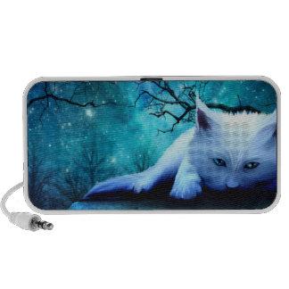 Ghost Cat Doodle Laptop Speaker