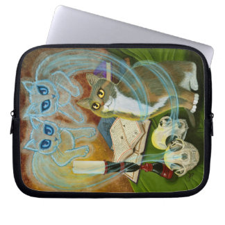 Ghost Cat Gothic Cat Art Witch Cat Laptop Sleeve
