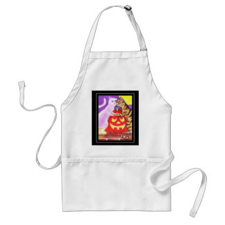 Ghost cat lover adult apron
