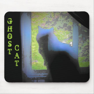 Ghost Cat with color Mouse Pad