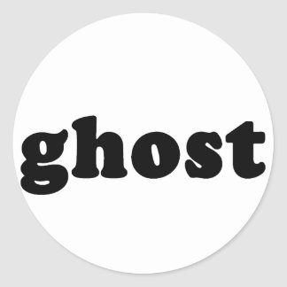 Ghost Cheap and Generic Halloween T shirt Classic Round Sticker