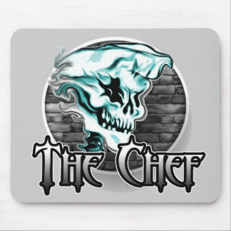 Ghost Chef Skull Mouse Pad
