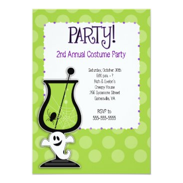 Ghost Cocktail Adult Costume Party Invitation