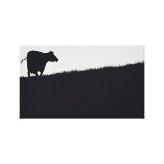 GHOST COW CANVAS PRINT
