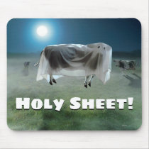 Ghost Cow Mouse Pad