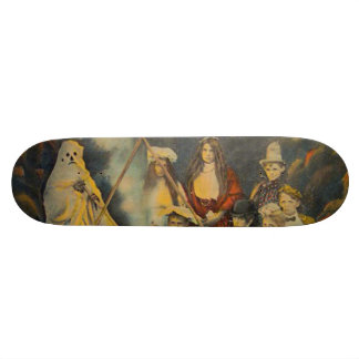 Ghost Cowboy Costume Trick Or Treat Skateboard Deck