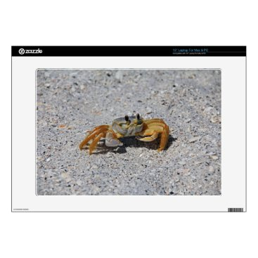"""Beach Themed Ghost Crab 15"""" Laptop Decals"""