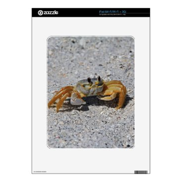 Beach Themed Ghost Crab Decals For The iPad