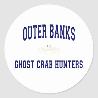 Ghost Crab Hunters Classic Round Sticker