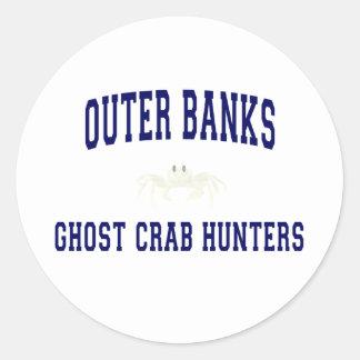 Ghost Crab Hunters Classic Round Sticker