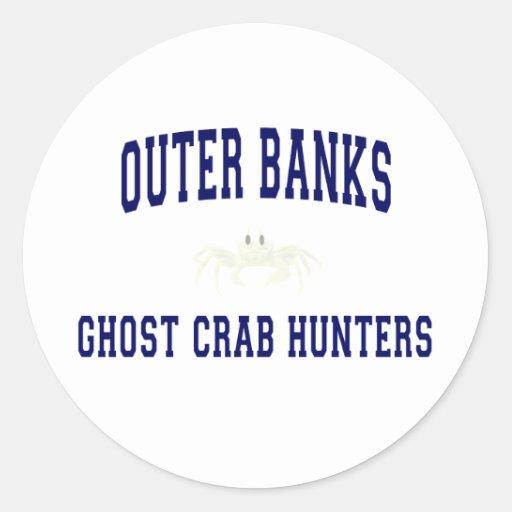 Ghost Crab Hunters Round Sticker