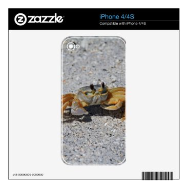 Beach Themed Ghost Crab iPhone 4S Decals