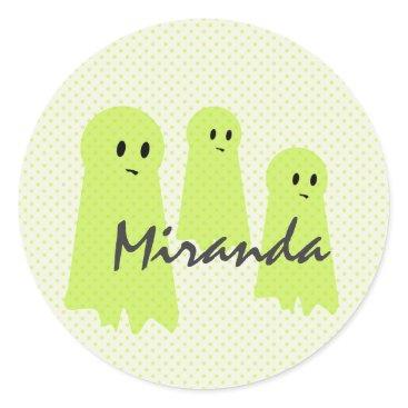 Halloween Themed Ghost Cream Halloween Sticker