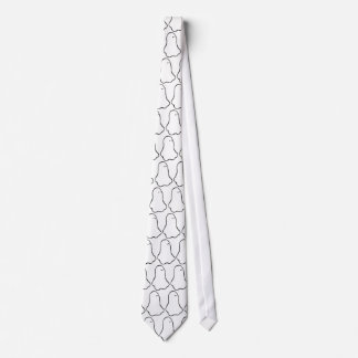 Ghost - crisp graphic little line art drawing tie