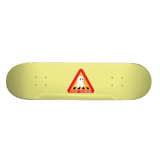 Ghost Crossing Sign - Yellow Background Skate Boards