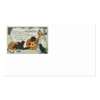 Ghost Crow Jack O Lantern Pumpkin Black Cat Business Card