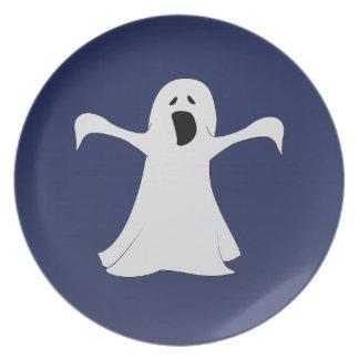 Ghost Decorative Plate in Blue