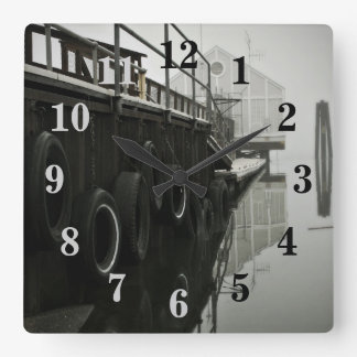 Ghost Dock Numbered Wall Clock
