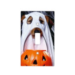 Ghost  dog - funny dog - dog halloween light switch cover