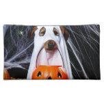 Ghost  dog - funny dog - dog halloween makeup bag