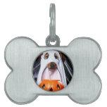 Ghost  dog - funny dog - dog halloween pet tag