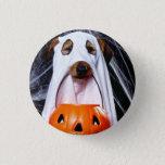 Ghost  dog - funny dog - dog halloween pinback button