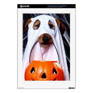 Ghost  dog - funny dog - dog halloween PS3 console decals