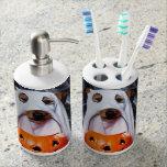 Ghost  dog - funny dog - dog halloween soap dispenser and toothbrush holder